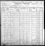 1900-IL Census, District 91, Wabash Precinct, Wabash Co, IL