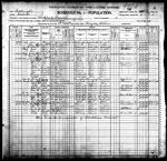 1900-WA Census, District 2, Blackhorse Precinct, Chehalis Co, WA
