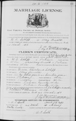 1919-WV Marriage Certificate - Grover Cleveland Setliff & May Arnold