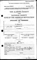 Descendants of John Rockhold - 1958 SAR Membership Application