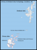 Map of the Orkney Isles & Shetland Isles Archipelago