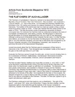 The Fletchers of Achallader