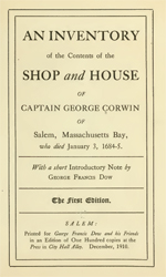 Corwin, Capt George- Inventory of (PDF)